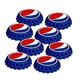 Jokari 8 Count Pepsi Modern Logo Snap and Sip Can Caps, Red/White/Blue