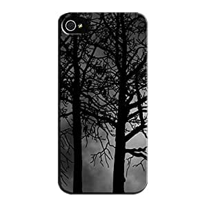 Forest Moon Black Protective Hard Case For Iphone 5/5s TPU Forest Moon 3D And CG