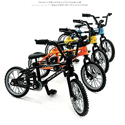 Yellow Alloy Finger BMX Functional Kids Bicycle modle Finger Bike Toys Gift