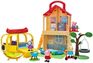 Peppa Pig Pop n' Playhouse and Play n' Go Campervan Combo Pack, Includes 4 Character Toy Figures Plus Playset