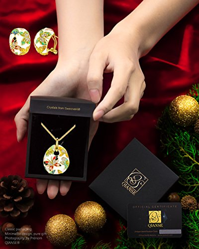 QIANSE Spring of Versailles Jewelry Sets for Women Vintage Enamel Butterfly Necklace Earrings Jewelry Set Birthday Gifts for Women Gifts for Mom Girlfriend Wife Sister Anniversary Gifts for Her by QIANSE (Image #3)