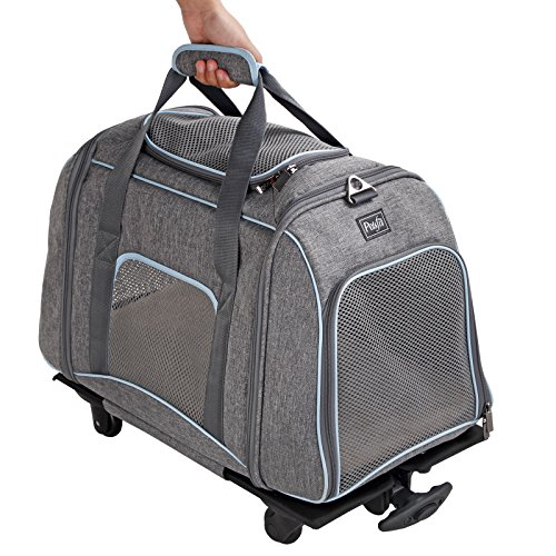 Petsfit-23Lx13Wx14H-Pet-Carrier-with-Removeable-Wheels-Soft-Sided-Dog-Carrier-For-Pet-up-to-22-Pounds