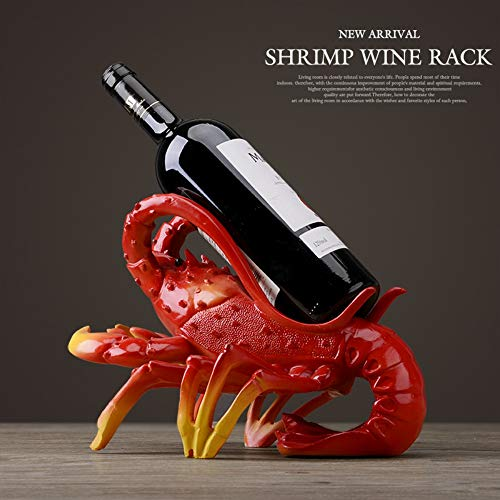 Home Decoration, Animal Shape, Creative Lobster Wine Rack, Art Deco Sculpture, Figurines Statue Statues Statuette Sculptures, For Living Room Bookcase Decoration Creative Desktop Furnishings,Red