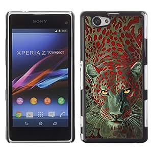 For Sony Xperia Z1 Compact / Z1 Mini / D5503 ,S-type® Leopard Animal Eyes Africa Fur - Arte & diseño plástico duro Fundas Cover Cubre Hard Case Cover