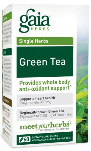 Gaia Herbs Thé Vert, 60-capsule de bouteille