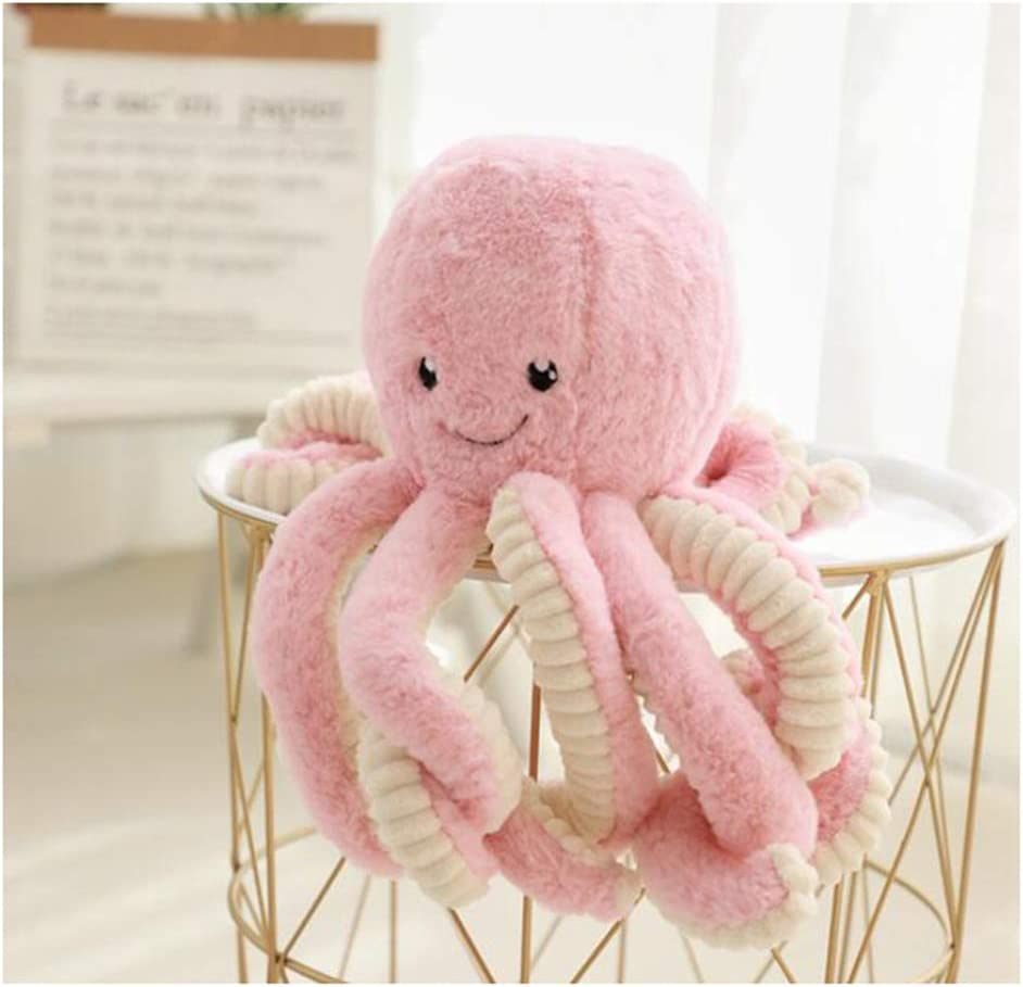 HYL World 15.7 Inches Plush Cute Octopus Dolls Soft Toy Stuffed Marine Animal for Home Decor Christmas Birthday Gifts-Pink