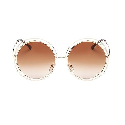 Meijunter Unisex Nuovo doppio cerchio occhiali da sole oversize rotonde