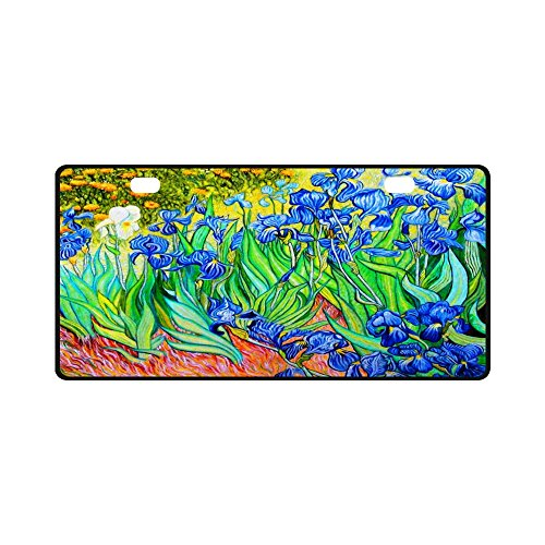 11.8 X 6.1 inches Durable License Plate Frame Metal Personalized Car Tag, Irises By Vincent Van Gogh (2 -