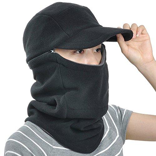 Baseball Climbing Cap (Unisex Winter Cycling CS Baseball Hat Cap Visor Hood Face Neck Mask Warmer Scarf)
