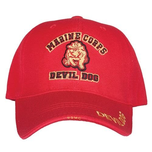 Fox Outdoor 78-4221 Embroidered Ball Cap, Devil Dog HD Division/Red