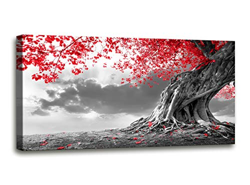 (Canvas Wall Art red Tree Painting for Living Room Decor and Painting Wall Art Decor 20