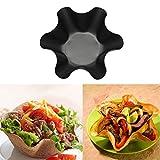 4Pcs Tortilla Pan Perfect Baking Shell Bowls Non-stick Snacks Pastry Baking Mold Home Kitchen Salad Taco Bowl New Eco-friendly Baking Tools(4pcs/pack,Black)