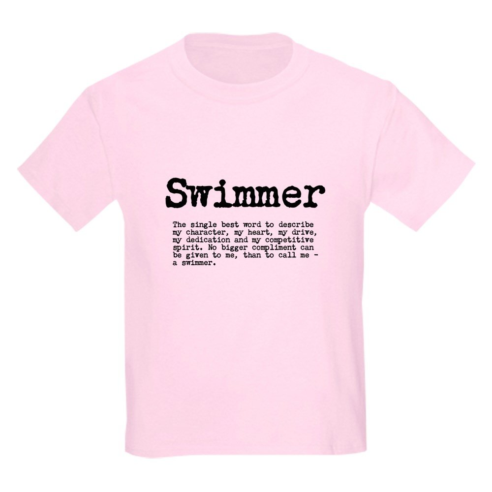 c0499f5b152 Amazon.com  CafePress - Swimmer T-Shirt - Kids Cotton T-shirt White   Clothing