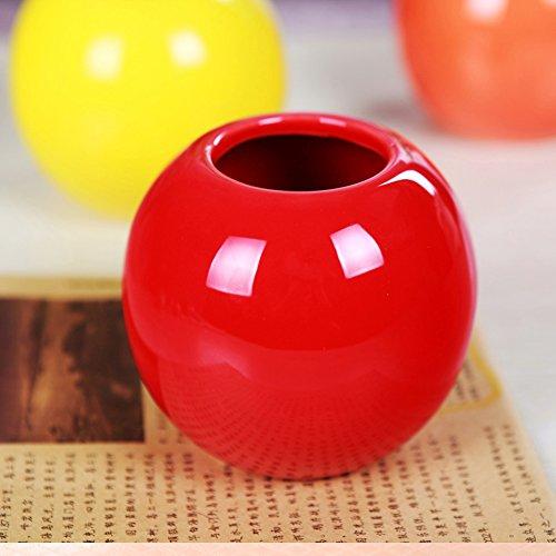 se Decorative Bud Vase Succulent Pots Storage Jars Various 7 Colors (One Red) ()