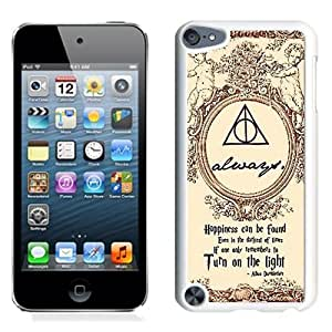 Customized$Unique Ipod Touch 5 Case Design with Harry Potter White Phone Case for Ipod Touch 5 5th Generation
