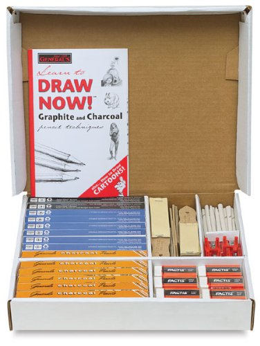 General's Sketchmate Classroom Art Pack, Pack of 168 Pencils-Plus Sharpeners,Book and Erasers
