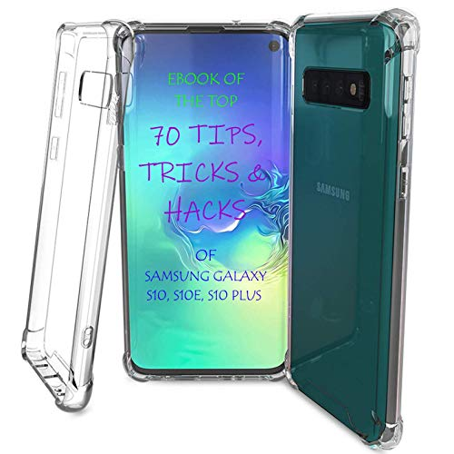 TAHVO Samsung Galaxy S10 Case Clear - Galaxy S10 Clear Case with Hacks E-Book, Clear S10 Case TPU Soft Sides Tough Back Protective Heavy Duty Phone Case