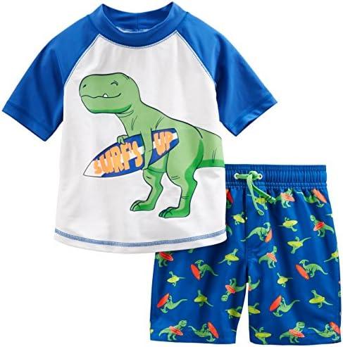 Simple Joys via Carter's Baby and Toddler Boys' 2-Piece Swimsuit Trunk and Rashguard