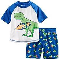 Simple Joys by Carter's Boys' 2-Piece Swimsuit Trunk and Rashguard