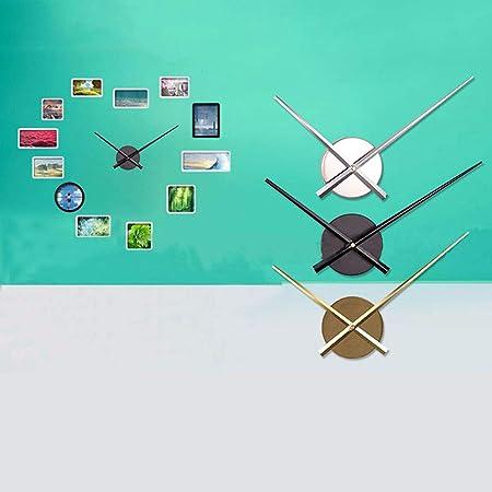 Vosarea Bricolaje Punto de Cruz Reloj Agujas Relojes de Pared 3D Home Art Decor Reloj de Cuarzo Mecanismo Accesorios (sin batería) Plata: Amazon.es: Hogar