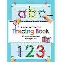Number and Letter Tracing Book for Preschoolers and Kids Ages 3-5:: Interesting Stuff Tracing and Coloring Workbook: Practice for Kids Tracing