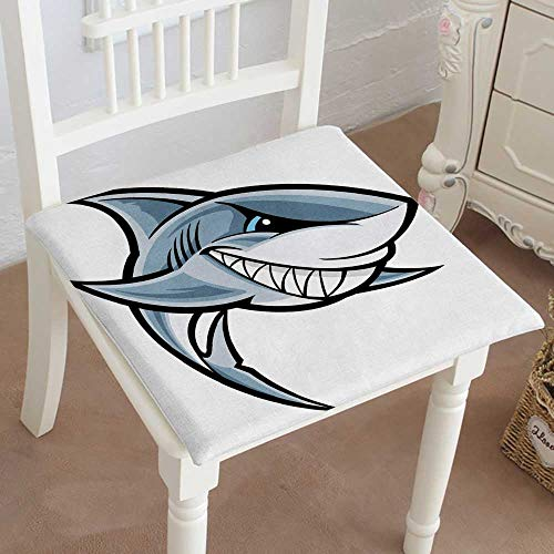 - Mikihome Chair Pads Square Cotton Chair Cushion Great White Shark Soft Thicken Seat Pads Cushion Pillow for Office,Home or Car 18