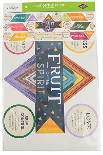 Renewing Minds Color Me Brilliant Fruit of the Spirit Bulletin Board Set, Multi-Colored, 22 Pieces