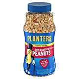 Planters Dry Honey Roasted Peanuts (16 oz Canister, Pack of 2)