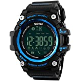 Fanmis Men Multifunction Smart Watch Pedometer Calories Digital Military Sport Watches Bluetooth for Android iPhone Activity Tracker Call Text Notification Alarm Monitor for Walking Running