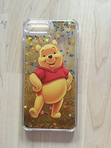 (Winnie The Pooh Bling Sparkle Liquid Glitter Quicksand Case For iPhone 6/6s 4.7