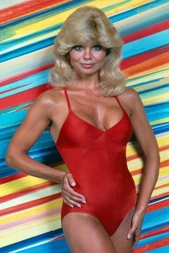 Loni Anderson busty sexy pin-up in red swimsuit 24X36 Poster from Silverscreen