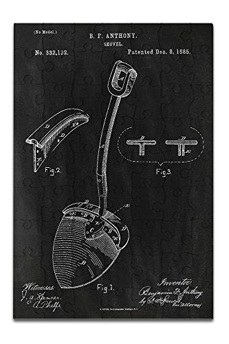 Black Diamond Travel Shovel (Blackboard Patent - Shovel (8x12 Premium Acrylic Puzzle, 63 Pieces))