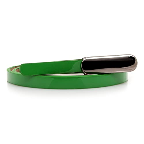 Semplice moda cinture Wild cintura fibbia in metallo Cintura in vernice-G