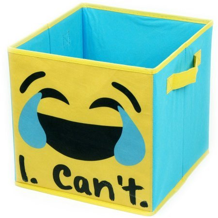 EmojiPals I Can't Collapsible 2-Pack Soft Storage Cubes EMOJI PALS WK639442