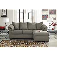 Darcyl DuraBlend Contemporary Cobblestone Color Microfiber Sofa Chaise