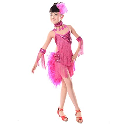 Vestidos de Baile de Ballet Traje de Baile Latino - Borla de Falda ...