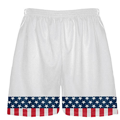 youth american flag banner lacrosse shorts usa