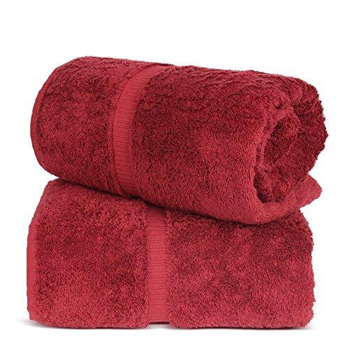 TURKUOISE TURKISH TOWEL % 100 Turkish Cotton Luxury and Super Soft Bath Sheets, 35x70 Inches (Cranberry)