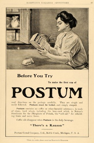 1910-ad-postum-cereal-coffee-substitute-drink-housewife-breakfast-health-wheat-original-print-ad