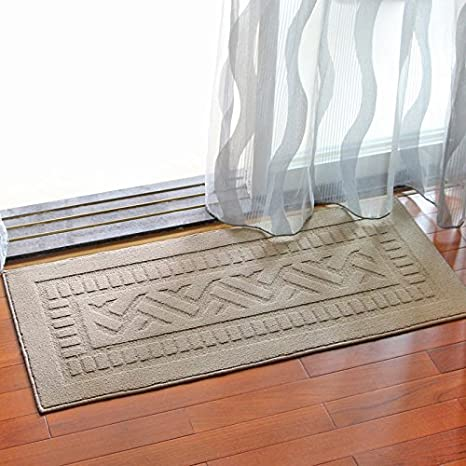 MOMO Kitchen Balcony Non Slip Mat Long Padded Door Entrance Dust Square  Carpet Floor,