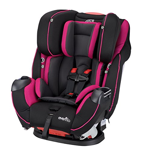 Evenflo Symphony Elite All-in-One Convertible Car Seat, Raspberry...