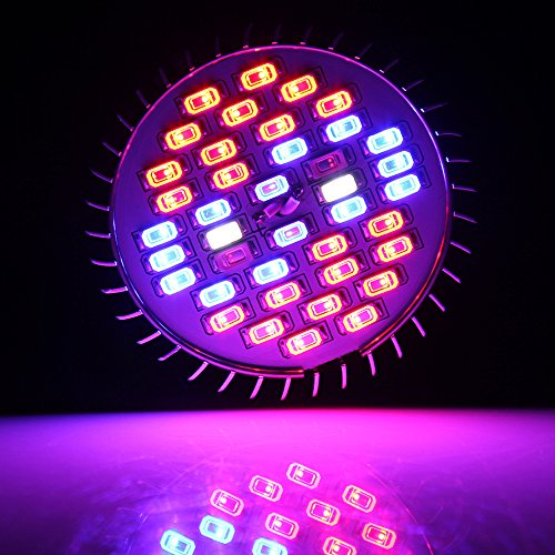50W 78LEDs 120 Degree Wide Area Coverage LED Grow Light Bulb Full Spectrum High Effcient LED Growing Bulbs Freal Indoor Garden Plants Lamp for Hydroponic Aquatic and Greenhouse Planting/&Flower