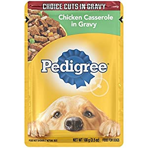 PEDIGREE Choice Cuts Chicken Casserole in Gravy Wet Dog Food 3.5 Ounces (Pack of 16)