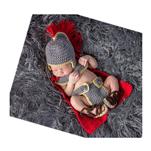Fashion Newborn Boy Girl Baby Costume Knitted Photography Props General Set (Baby Costumes Girl)