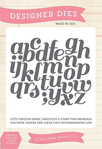 Echo Park Paper Company Script Alphabet Die Set (Die Cuts Park)