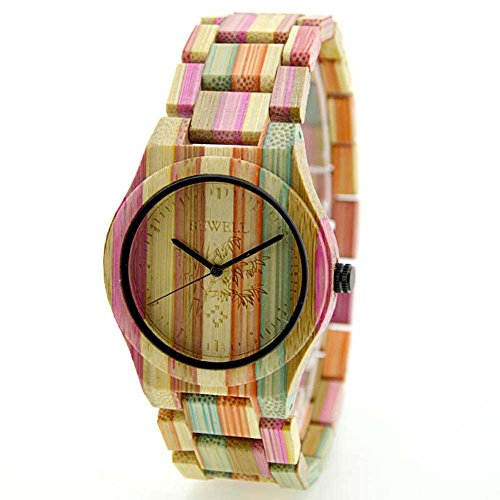 - Joberry Rainbow Watches, Quartz Analog Lover's Wrist Watch Wooden Band Vintage Retro Wristwatch (Men)