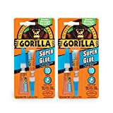 Gorilla Super Glue, 6 g, Clear, (2 Pack)