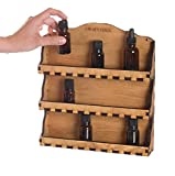 Urban Forest Essential Oil 3 Shelf Wooden Wall Display - Secure Hanging Storage for Easy Access To Your Bottles - Holds 24 Vials