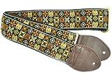 Souldier GS0296NM01WB Custom USA Handmade Woodstock Acoustic Guitar Strap - Brown/Gold