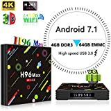 Updated 4G 64G android tv box TV BOX H96 Max H2 RK3328 4K Android 7.1 Smart TV Box Support 2.4G/5G Dual Wifi/100M LAN/BT 4.0/3D/H265 Gift set top Box